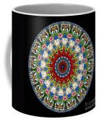 Kaleidoscope Stained Glass Window Series Coffee Mug by Amy Cicconi