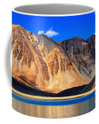 Mountains Pangong Tso Lake Leh Ladakh Jammu And Kashmir India Coffee Mug