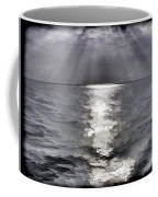 Rays Of Light Shimering Over The Waters Coffee Mug