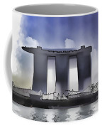 View Of The Towers Of The Marina Bay Sands In Singapore Coffee Mug
