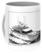 85 Foot Custom Nordlund Motoryacht Coffee Mug by Jack Pumphrey