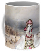 Borzoi - Russian Wolfhound Art Canvas Print Coffee Mug