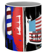 9-11-01 Sign Barber Shop Eloy Arizona 2005 Color Added 2008 Coffee Mug
