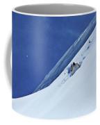 A Athletic Skier Rips Fresh Deep Powder Coffee Mug