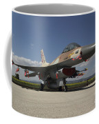 An F-16c Barak Of The Israeli Air Force Coffee Mug