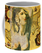 Ancient Cyprus Map And Aphrodite Coffee Mug