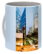 Charlotte City Skyline Night Scene Coffee Mug