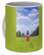 Girl On Meadow Coffee Mug by Joana Kruse