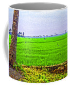Green Fields With Birds Coffee Mug