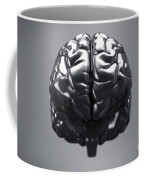 Metallic Brain Coffee Mug