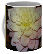 #928 D809 Dahlia Pink White Yellow Dahlia Thoughts Of You Coffee Mug