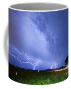 95th And Woodland Lightning Thunderstorm View Coffee Mug