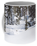 A Backcountry Skier A Turn Near Ymir Coffee Mug