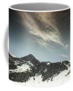 A Backpacker Gazes Up At Needle Peak Coffee Mug