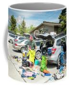 A Backpacker Prepares His Gear Coffee Mug