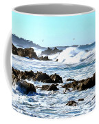 Seascape And Sea Gulls Coffee Mug