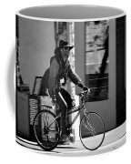 A Barefoot Cyclist With Beard And Hat In San Francisco Coffee Mug by RicardMN Photography