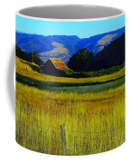 A Barn And Field In The Morning Coffee Mug