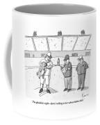 A Baseball Player Holds Up A Panting Dog Coffee Mug