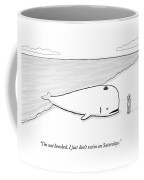 A Beached Whale Wears A Hasidic Rabbi Hat Coffee Mug