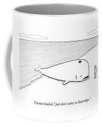 A Beached Whale Wears A Hasidic Rabbi Hat Coffee Mug by Paul Noth