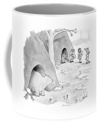 A Bear Emerges From A Cave Coffee Mug