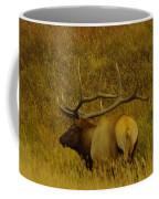 A Big Bull Elk Coffee Mug