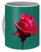A Big Red Rose Coffee Mug