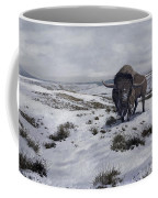 A Bison Latifrons In A Winter Landscape Coffee Mug by Roman Garcia Mora