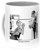 A Boss Holding A Piece Of Paper Walks Coffee Mug