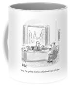 A Boss Speaks To An Employee Who Sits Coffee Mug