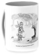 A Boy Has Blown Away A Large Portion Of A Tree Coffee Mug