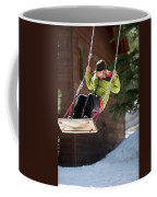 A Boy Plays Outside In Lake Tahoe Coffee Mug