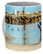 A Boy Searches The Water At Matheson Coffee Mug