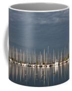 A Break In The Clouds - White Yachts Gray Sky Coffee Mug