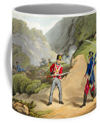 A British Soldier Taking Two French Coffee Mug