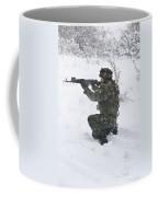 A Bulgarian Soldier Aims Down The Sight Coffee Mug