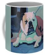 A Bulldog In Love Coffee Mug by Xueling Zou