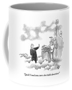 A Business Man Standing In Heaven Coffee Mug
