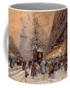 A Busy Boulevard Near The Place De La Republique Paris Coffee Mug