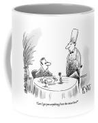 A Butcher Addresses A Man Sitting At A Dinner Coffee Mug