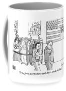 A Campaign Manager Speaks To A Bashful Politician Coffee Mug