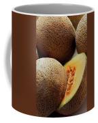 A Cantaloupe Sliced In Half Coffee Mug