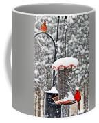 A Cardinal Winter Coffee Mug