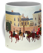 A Carriage Escorted By Police Coffee Mug