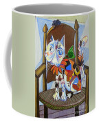 A Cat For Picasso_ Chat Et Souris Coffee Mug