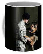 A Caucasian, Female Air Force Security Coffee Mug