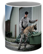 A Caucasian, Male Air Force Security Coffee Mug