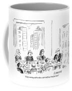 A Ceo Talks To His Board During A Board Meeting Coffee Mug