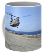 A Ch-47 Chinook Helicopter Landing Coffee Mug